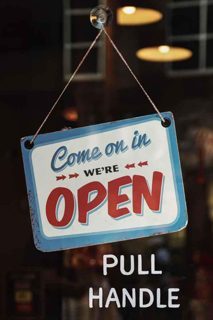 Come on in. We're open.